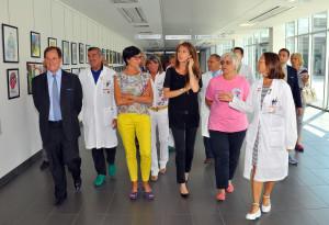 Legnano Mario Mantovani e Carolina Toia in visita al sosocomio 10 07 2015