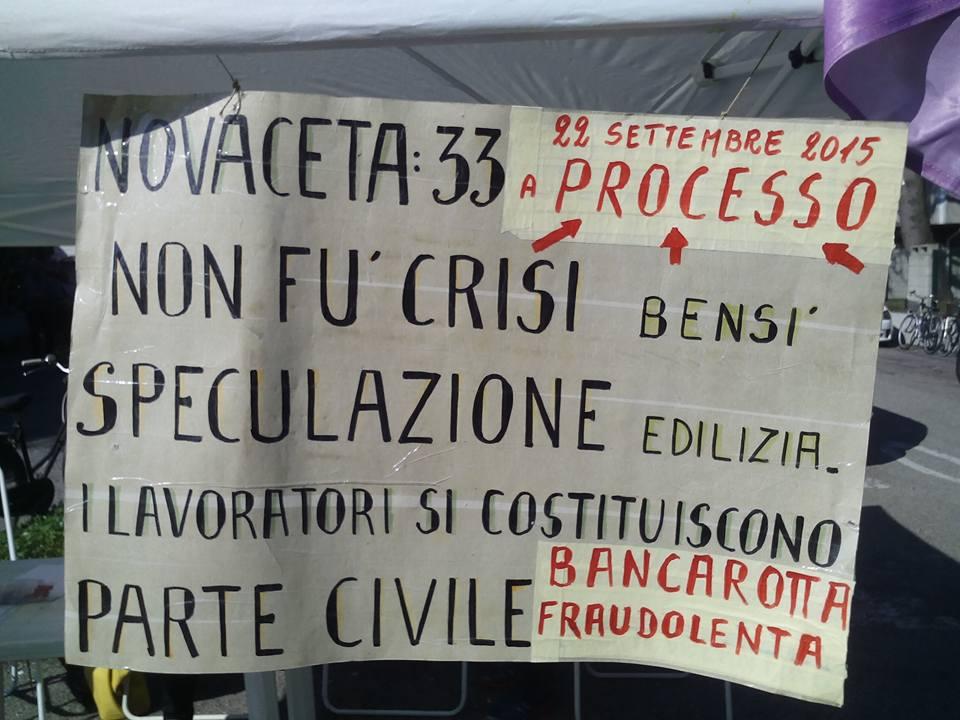 Ex Novaceta_cartello_speculazione_processo