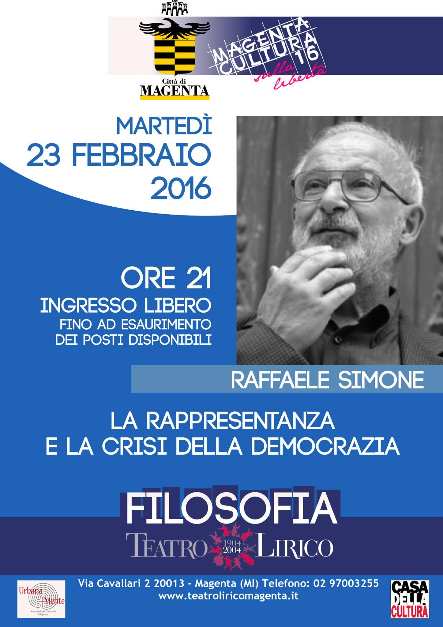 MagentaCultura2016_Raffaele De Simone_locandina