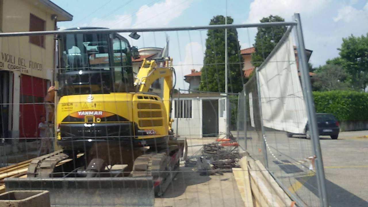 Partiti i lavori di ampliamento rimessa alla caserma dei for Lavori alla camera