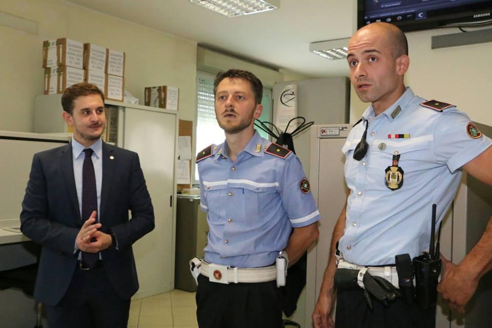 Gli agenti della Polizia locale di Magenta Magnaghi e Cavazzana