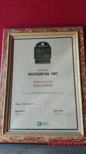 Ristobottega Bolciaghi - Il salame del nonno - targa Regione Lombardia