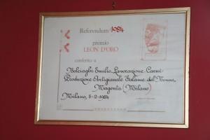 Premio Leone d'oro 1984