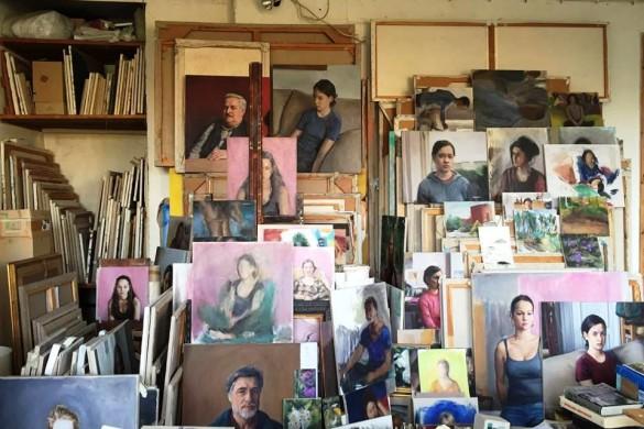 Atelier dell'artista Christian Grosskopf a Berlino