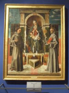 Bartolomeo Montagna -Madonna col Bambino tra san Francesco e san Bernardino