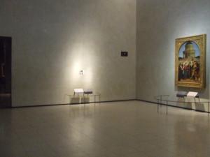 La postazione vuota del Cristo alla Colonna del Bramante