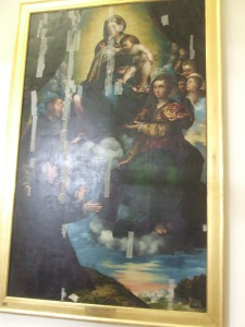 Giulio Campi, Madonna con Bambino e i santi Caterina di Alessandria, san Francesco e l'offerente Stampa Soncino