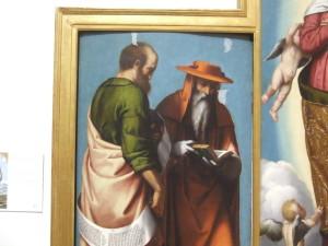 Moretto (Alessandro Bonvicino), La Vergine Assunta tra i Santi Gerolamo e Marco, Caterina d'Alessandria e Chiara
