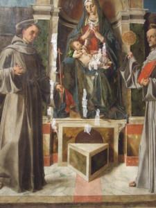 Bartolomeo Montagna, Madonna col Bambino tra san Francesco e san Bernardino