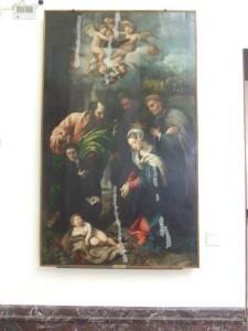 Giulio Campi, Madonna con il Bambino e Sant'Antonio da Padova, il beato Alberto di Villa d'Ogna e un offerente