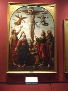 Ortolano (Giovanni Battista Benvenuti), La Crocifissione con la Vergine e i Santi Giovanni Battista, Maddalena, Giovanni Evangelista ed Agostino1