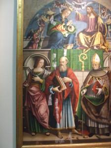 Vincenzo Pagani, Incoronazione della Vergine con i santi Caterina d'Alessandria, Giovanni Battista, Bonaventura e Orsola