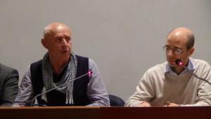 l'assessore Marco testa ed il Sindaco Flavio Polloni, in un momento di Consiglio comunale