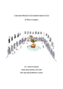 Marco Lavagetto, I grandi progetti di design rigettato, n. 1 Upupa in Piazza