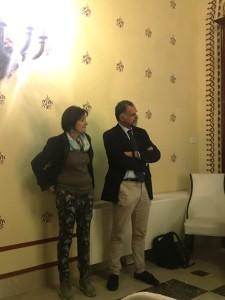 Dottoressa Lorena Vergani e assessore Massimo GaravagliaJPG