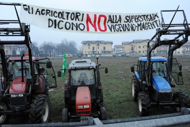 Albairate - Protesta agricoltori