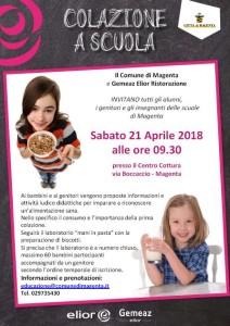 Colazione a scuola 21 aprile 2018