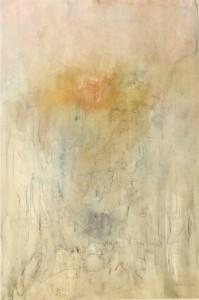 Nadia Nespoli, Autoritratto, tecnica mista su tela, cm. 100 x 70.